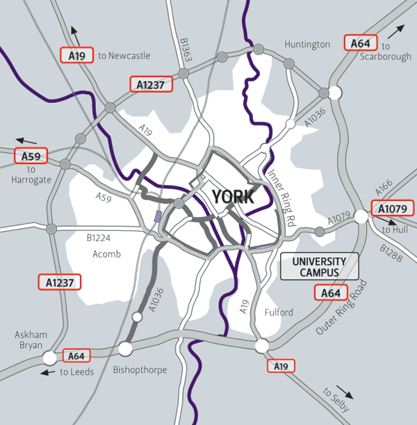 Image: The local road network