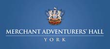 Merchant Adventurers Hall logo in blue