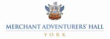 Merchant Adventurers Hall logo in white