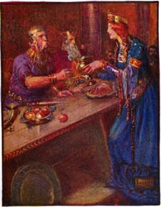 Stories_of_beowulf_queen_poring_wine
