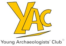 Tactile maps Young Archaeologists Club logo
