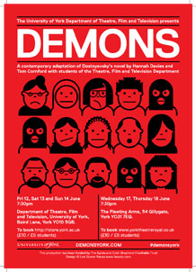 Poster of Dostoevsky's Demon production