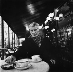 Samuel Beckett in a Paris Cafe photo by John Minihan