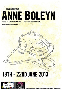 "Poster for the play ""Anne Boleyn"""